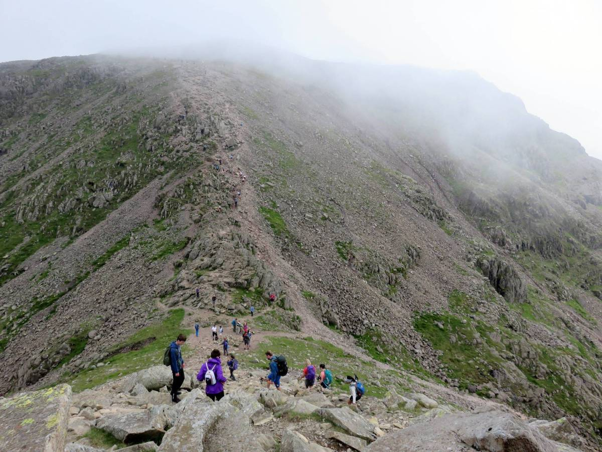 All the Walking Routes up Scafell Pike
